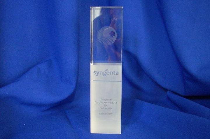 A Chemark Kft. elnyerte a Syngenta Beszállítói Nagydíját